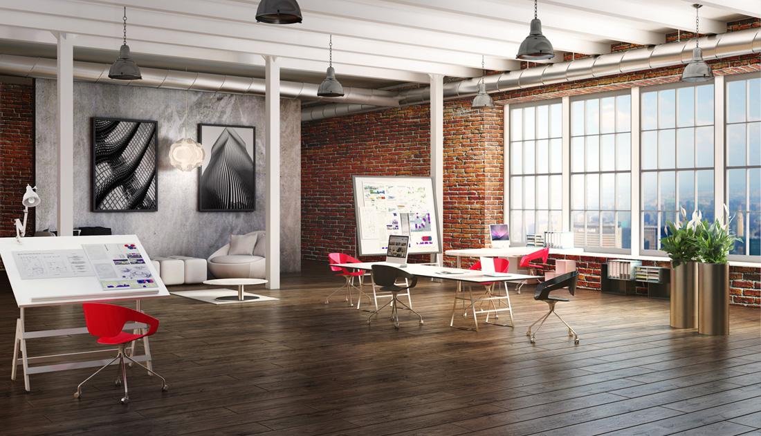 Panele podłogowe - loft pracownia