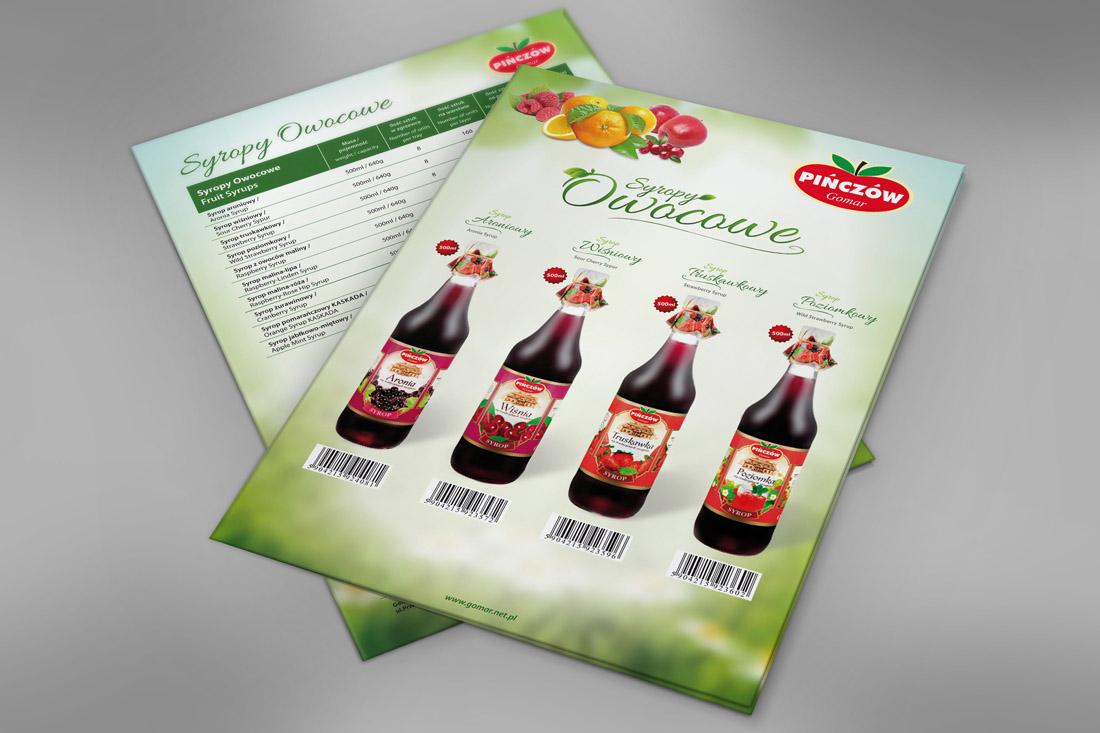 Karty produktowe - soki owocowe