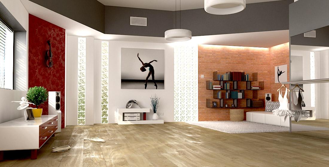 Panele podłogowe Kronopol - pokój baletnicy