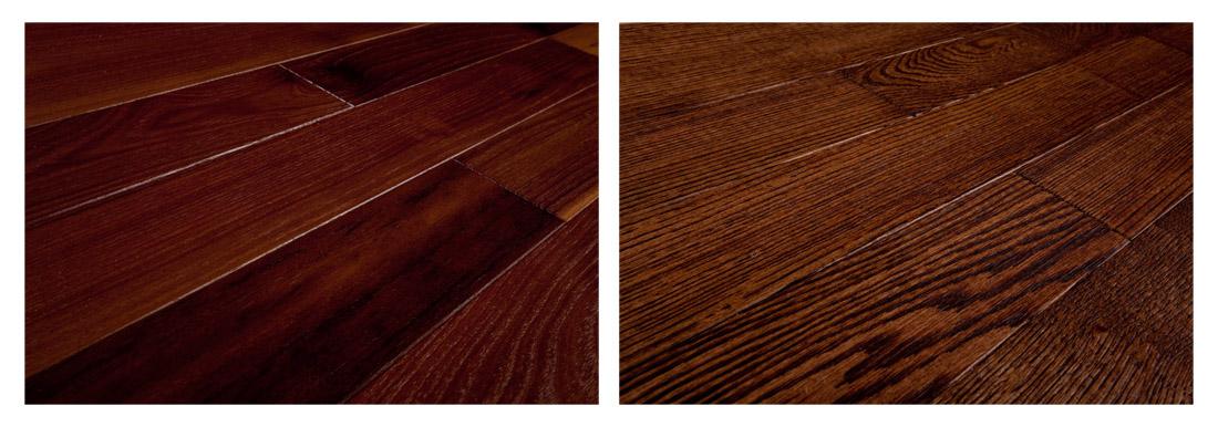 Próbki naturalnych podłóg drewnianych