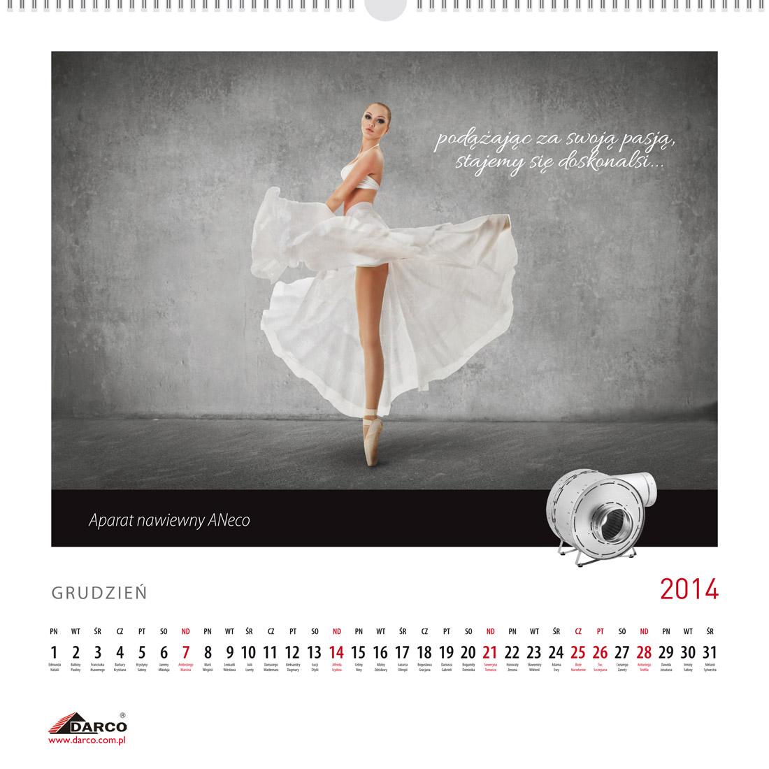 Projekt kalendarza - 12 miesięcy