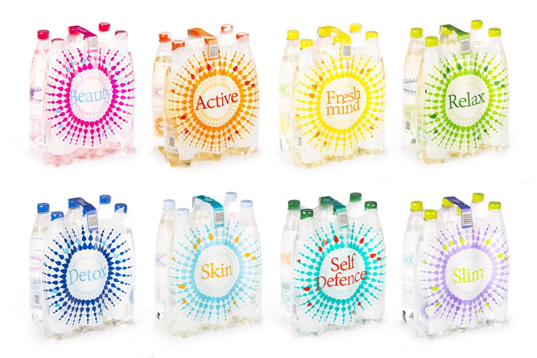 Wody smakowe - projekty etykiet dla linii produktów