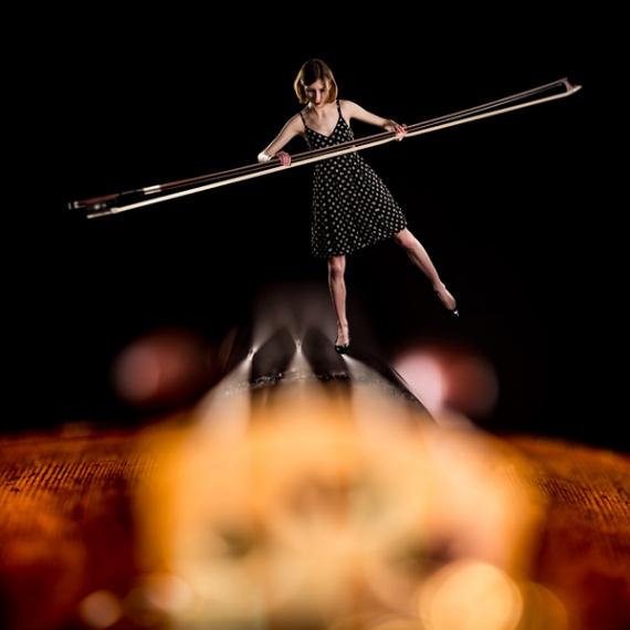 Życie na skrzypcach - fotografia kreacyjna