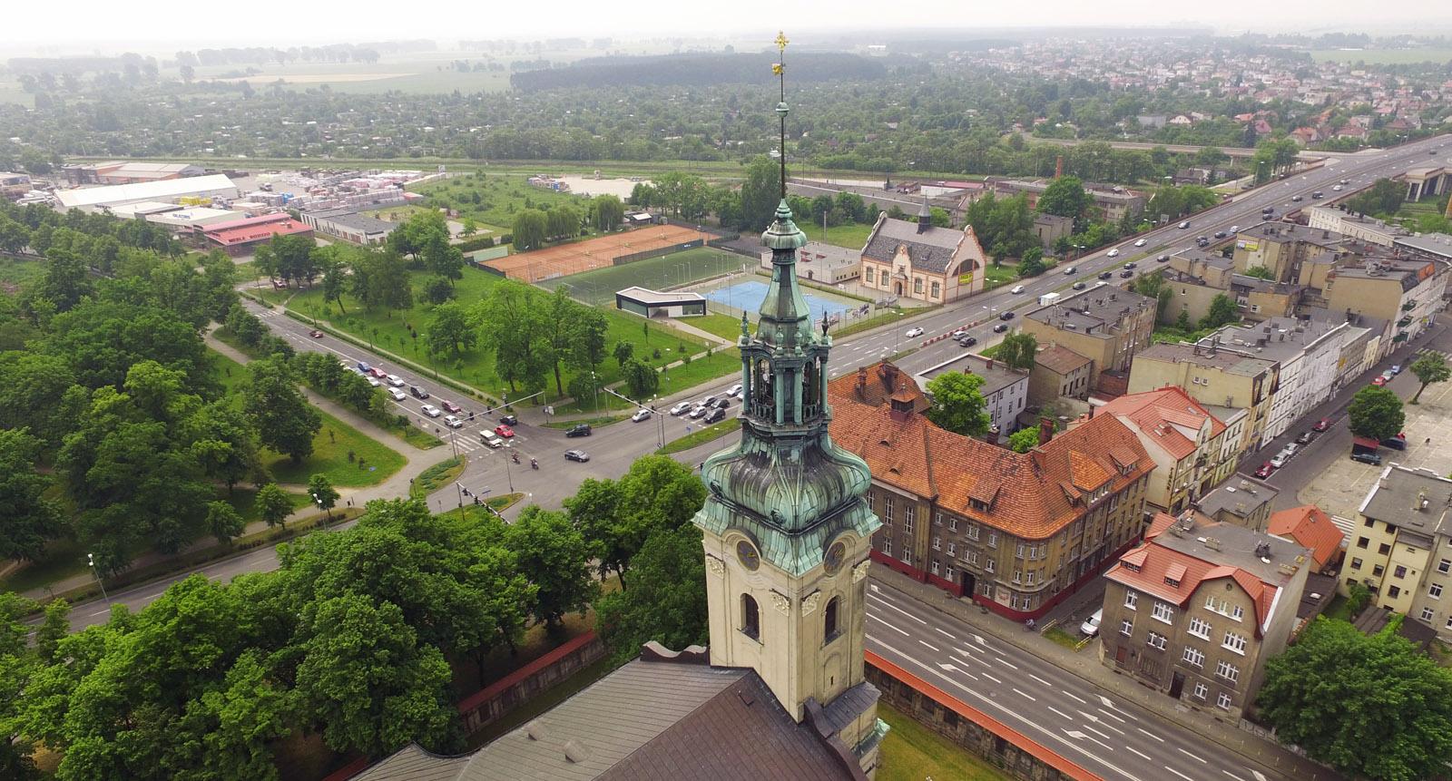 miasto z lotu ptaka (Leszno)