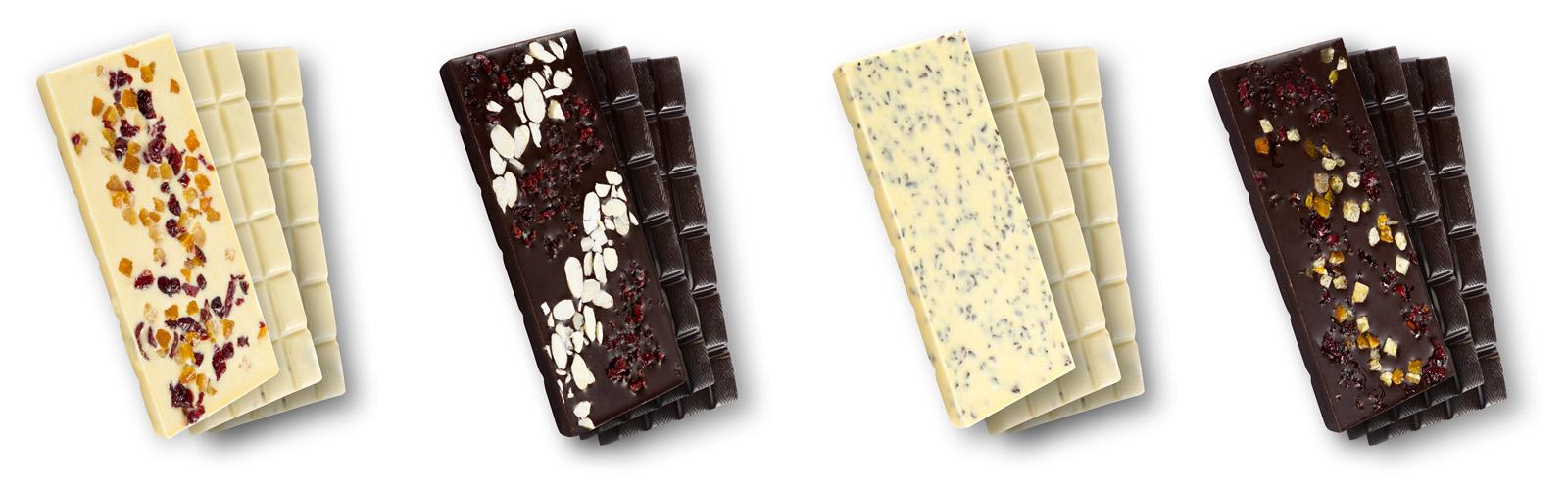 Fotografie tabliczek czekolady dla producenta