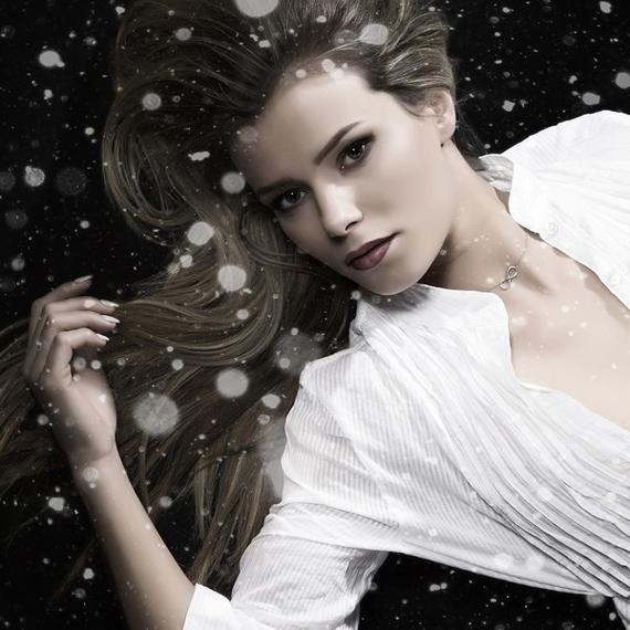 Królowa śniegu - Snow Queen - portret studyjny