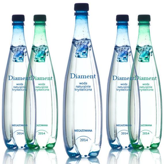 projekt na butelke wody mineralnej