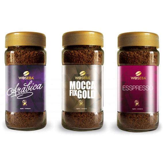 projekty etykiet na opakowania szklane - projekt etykiet kawa