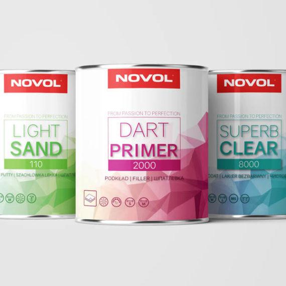 opakowanie w puszkach - farba - projekty etykiet